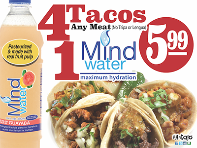 4Tacos plus a free MidWater ® for $5.99