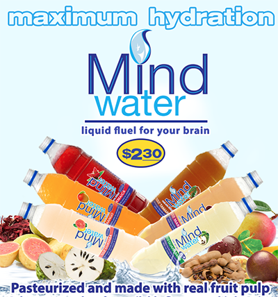 Mind Water®, pasteurized and made with real fruit pulp