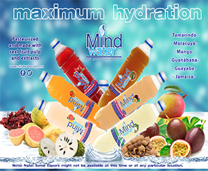 Mind Water Beverages, Pasteurized and made with real fruit pulp